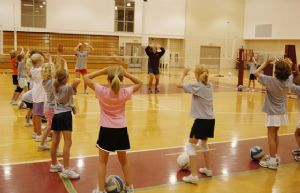 Teen Volleyball Practice
